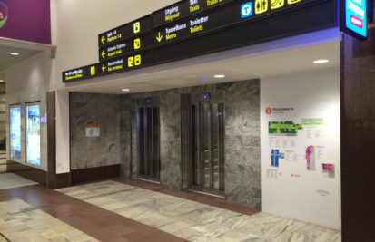 Hissombyggnad på Centralstationen
